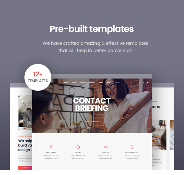Hando - Corporate & Portfolio Elementor Template Kit - 4